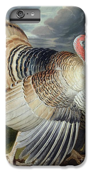 Portrait Of A Turkey  IPhone 6 Plus Case by Johann Wenceslaus Peter Wenzal