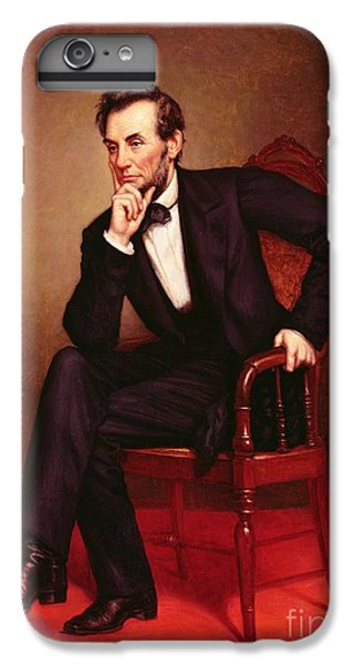 Portrait Of Abraham Lincoln IPhone 6 Plus Case by George Peter Alexander Healy
