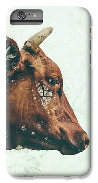 Cow iPhone 6 Plus Case - Portrait Of Bess by Katherine Smit