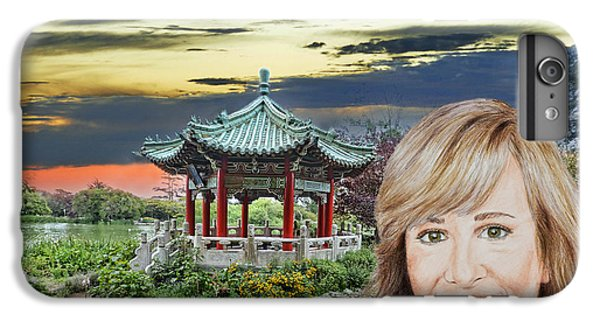 Portrait Of Jamie Colby By The Pagoda In Golden Gate Park IPhone 6 Plus Case by Jim Fitzpatrick