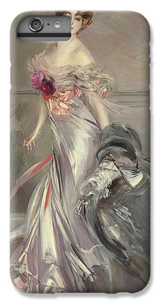 Portrait Of Marthe Regnier IPhone 6 Plus Case by Giovanni Boldini