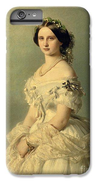 Portraits iPhone 6 Plus Case - Portrait Of Princess Of Baden by Franz Xaver Winterhalter
