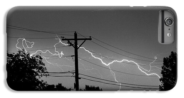 Power Lines Bw Fine Art Photo Print IPhone 6 Plus Case