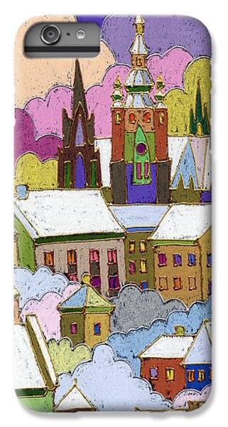 Prague Old Roofs Prague Castle Winter IPhone 6 Plus Case by Yuriy  Shevchuk