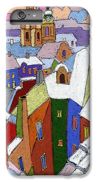 Prague Old Roofs Winter IPhone 6 Plus Case by Yuriy  Shevchuk
