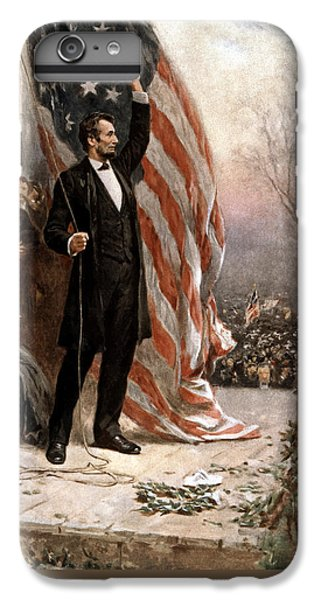 President Abraham Lincoln Giving A Speech IPhone 6 Plus Case by War Is Hell Store
