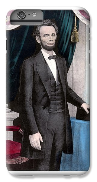 President Abraham Lincoln In Color IPhone 6 Plus Case by War Is Hell Store