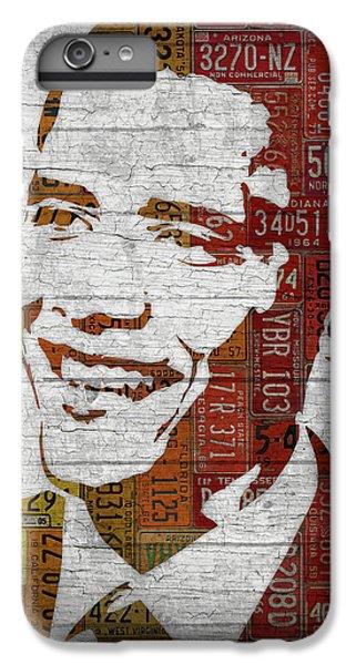 President Barack Obama Portrait United States License Plates IPhone 6 Plus Case by Design Turnpike