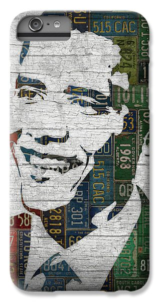 Barack Obama iPhone 6 Plus Case - President Barack Obama Portrait United States License Plates Edition Two by Design Turnpike