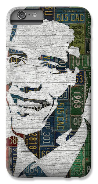 President Barack Obama Portrait United States License Plates Edition Two IPhone 6 Plus Case by Design Turnpike