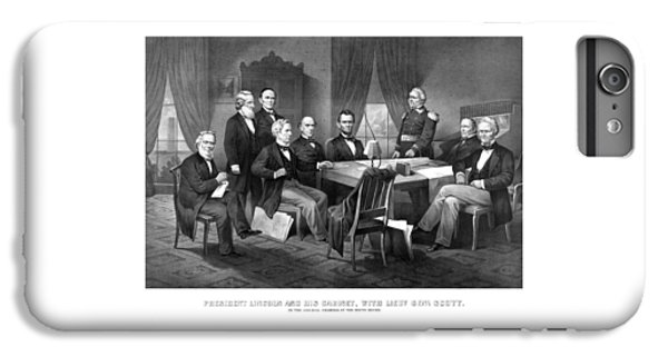 Salmon iPhone 6 Plus Case - President Lincoln His Cabinet And General Scott by War Is Hell Store