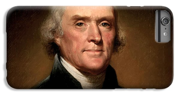 Portraits iPhone 6 Plus Case - President Thomas Jefferson  by War Is Hell Store