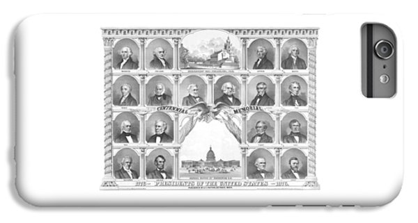 Capitol Building iPhone 6 Plus Case - Presidents Of The United States 1776-1876 by War Is Hell Store