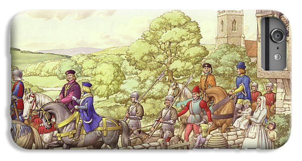Prince Edward Riding From Ludlow To London IPhone 6 Plus Case by Pat Nicolle