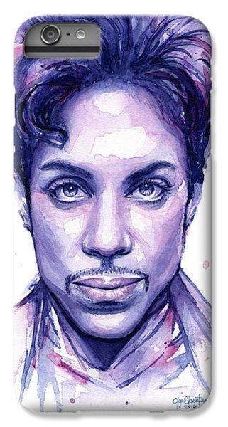 Celebrities iPhone 6 Plus Case - Prince Purple Watercolor by Olga Shvartsur