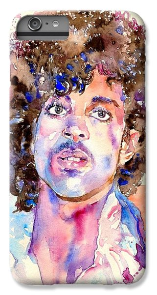 Rock Legend iPhone 6 Plus Case - Prince Rogers Nelson Watercolor by Suzann's Art