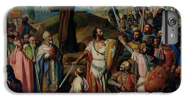 Procession Of Crusaders Around Jerusalem IPhone 6 Plus Case by Jean Victor Schnetz
