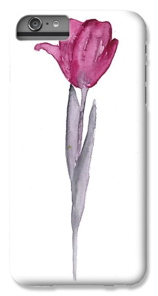 Purple Tulip Botanical Artwork Poster IPhone 6 Plus Case by Joanna Szmerdt