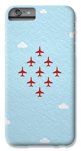 Jet iPhone 6 Plus Case - Raf Red Arrows In Formation by Samuel Whitton