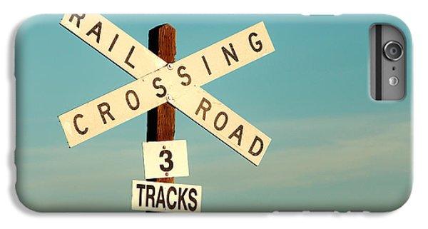 Train iPhone 6 Plus Case - Railroad Crossing by Todd Klassy