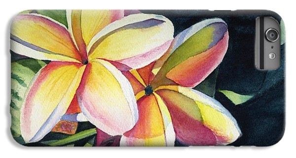 Flowers iPhone 6 Plus Case - Rainbow Plumeria by Marionette Taboniar