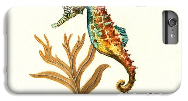 Rainbow Seahorse IPhone 6 Plus Case by Juan Bosco