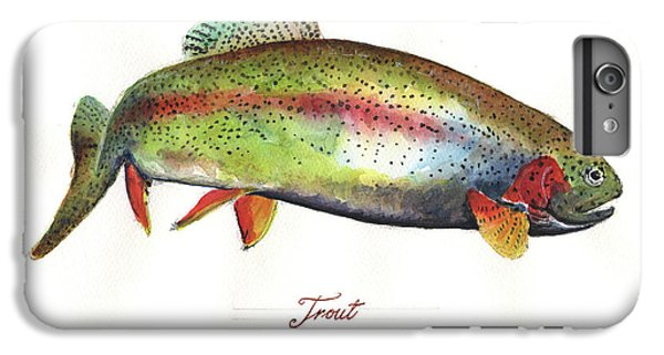 Rainbow Trout IPhone 6 Plus Case by Juan Bosco