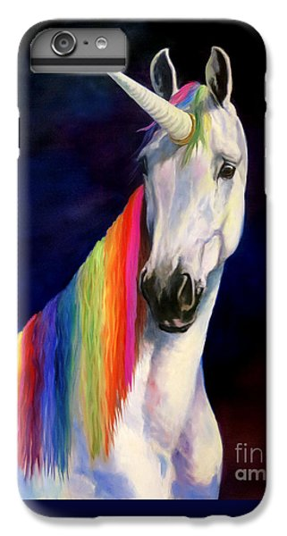 Unicorn iPhone 6 Plus Case - Rainbow Unicorn by Jeanne Newton Schoborg