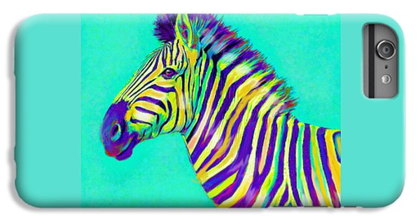 Rainbow Zebra 2013 IPhone 6 Plus Case by Jane Schnetlage