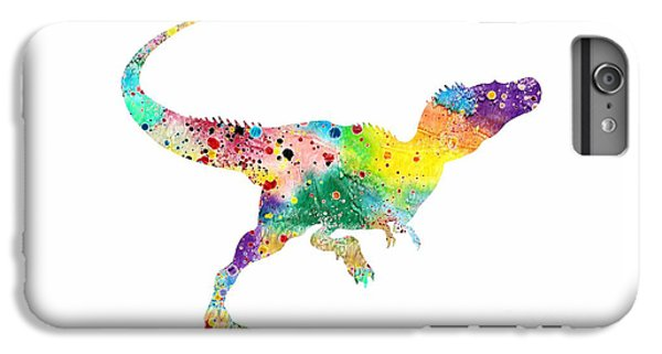 Raptor 2 Dinosaur Watercolor IPhone 6 Plus Case by Svetla Tancheva