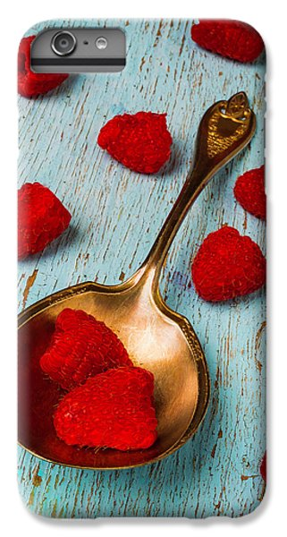 Raspberries With Antique Spoon IPhone 6 Plus Case by Garry Gay