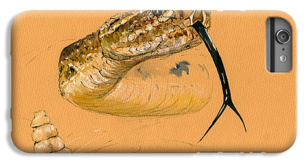 Garden Snake iPhone 6 Plus Case - Rattlesnake Painting by Juan  Bosco