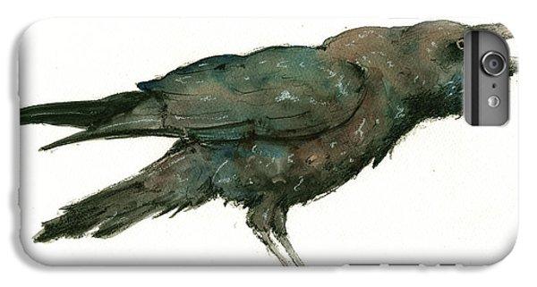 Raven iPhone 6 Plus Case - Raven Bird by Juan Bosco