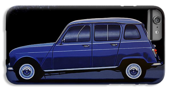 Truck iPhone 6 Plus Case - Renault 4 1961 Painting by Paul Meijering