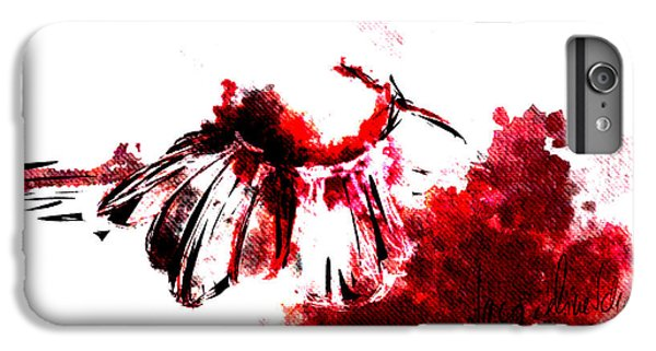 Decorative iPhone 6 Plus Case - Red -1 by Jacqueline Schreiber