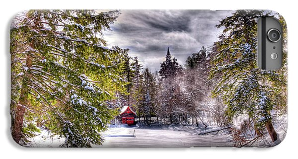 IPhone 6 Plus Case featuring the photograph Red Boathouse After The Storm by David Patterson