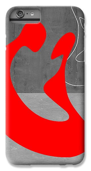 Brown Snake iPhone 6 Plus Case - Red Couple by Naxart Studio