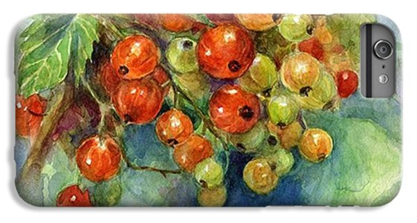 Follow iPhone 6 Plus Case - Red Currants Berries Watercolor by Svetlana Novikova