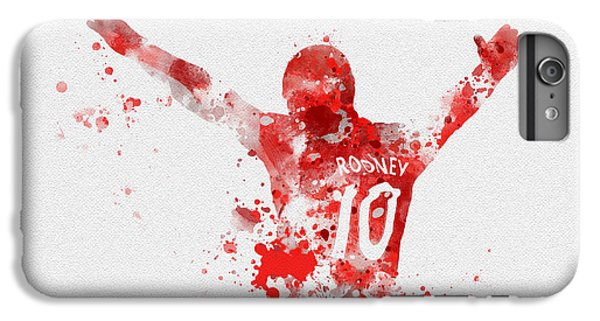 Wayne Rooney iPhone 6 Plus Case - Red Devil by Rebecca Jenkins