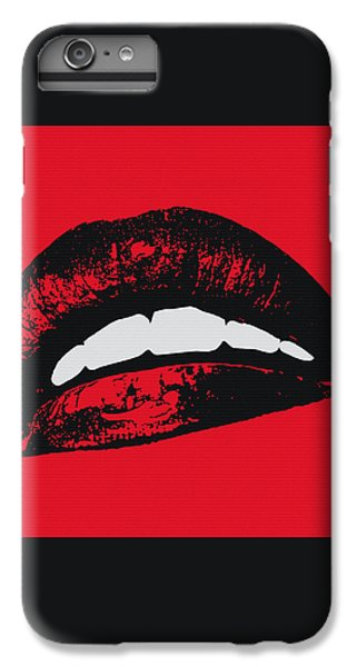 Red Lips IPhone 6 Plus Case by Edouard Coleman