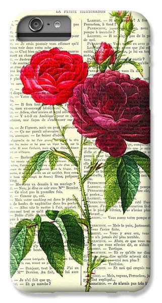Floral iPhone 6 Plus Case - Red Roses For Valentine by Madame Memento