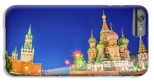 Moscow iPhone 6 Plus Case - Red Square At Night by Delphimages Photo Creations