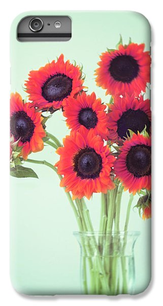 Sunflower iPhone 6 Plus Case - Red Sunflowers by Amy Tyler