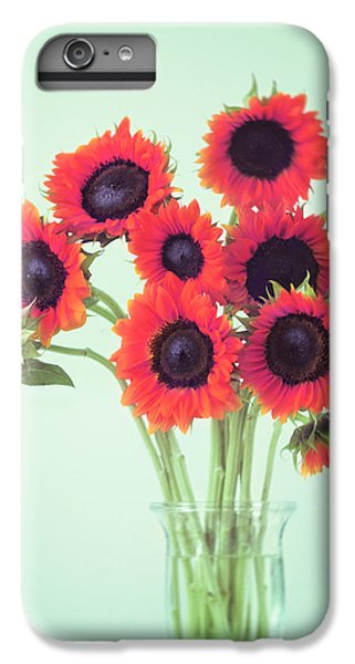 Red Sunflowers IPhone 6 Plus Case by Amy Tyler