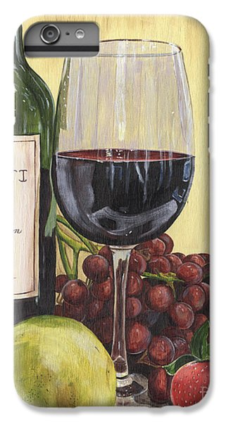 Red Wine And Pear 2 IPhone 6 Plus Case by Debbie DeWitt