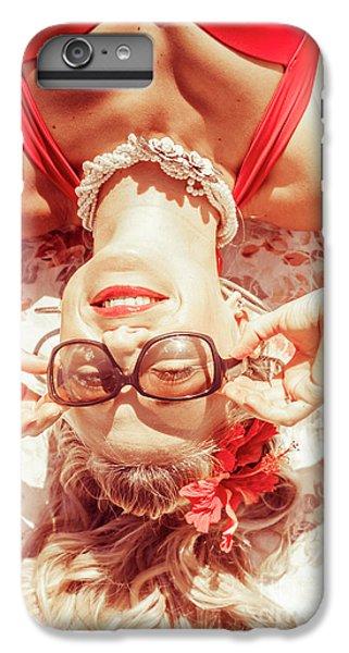 Retro 50s Beach Pinup Girl IPhone 6 Plus Case