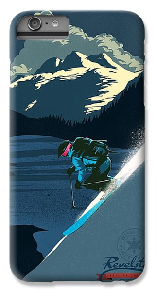Mount Rushmore iPhone 6 Plus Case - Retro Revelstoke Ski Poster by Sassan Filsoof