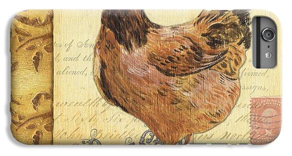 Rural Scenes iPhone 6 Plus Case - Retro Rooster 1 by Debbie DeWitt