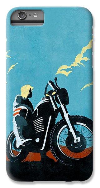Motorcycle iPhone 6 Plus Case - Retro Scrambler Motorbike by Sassan Filsoof