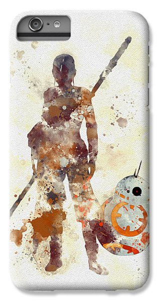Han Solo iPhone 6 Plus Case - Rey And Bb8 by My Inspiration